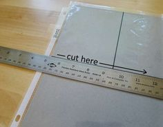 How to create it own pockets out of sheet protector. Could do this for project life.