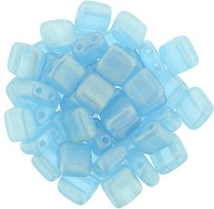 250-66-MSG6002 CzechMates Tile Bead 6mm : Sueded Gold Aquamarine