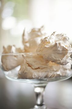 coconut meringue 01 via http://zoebakes.com/2012/04/26/mothers-day-meringues-light-and-simple-summer-desserts/#more-4858