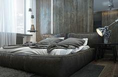 revestimiento con laminado de madera de color gris