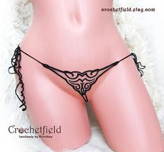 Mini open thong embroidery tatoo lace ouvert panties