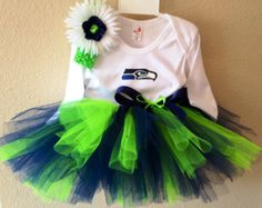 Seattle Seahawks inspired tutu outfit by killerkrafts on Etsy