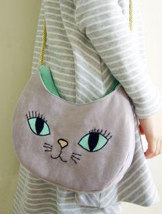 grey cat bag