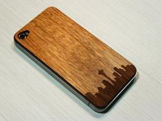 Grandma's Wooden Tooth Seattle skyline iPhone skin