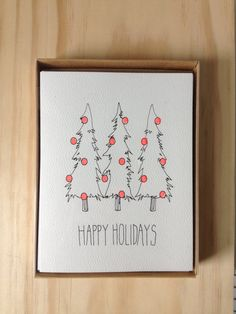 6 Pack Holiday Cards by HartlandBrooklyn on Etsy, $15.00