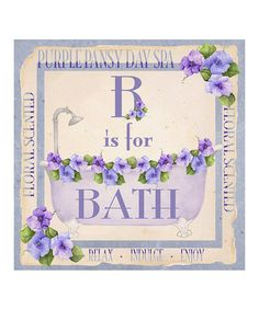 Take a look at this 'B Is for Bath' II Canvas by Laila's on #zulily today!