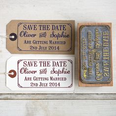 save the date rubber stamp with border by english stamp | notonthehighstreet.com…