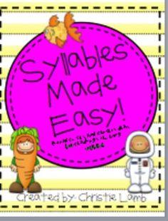 Creative ways to teach syllables!