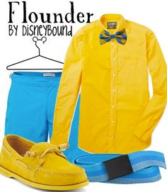 Flounder by Disney Bound Fashion Disney Outfit The Little Mermaid Disneyland Outfits, Disney Bound Outfits, Flounder Costume, Disney Dapper Day, Disney Inspired Fashion, Disney Fashion, Estilo Disney, Character Inspired Outfits, Mermaid Disney