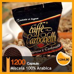 $321.92 €244,90 Questa offerta prevede 1200 Capsule monodose standard Caffè Carbonelli Miscela 100% Arabica. Raffinata miscela composta dal 100% di caffè arabica. L'equilibrato dosaggio di questi eccellenti caffè, offre una tazza dalla piccata cremosità, per un aroma vellutato e cioccolatoso. Il costo di spedizione è gratuito per l'Italia. Per Europa, Usa, Australia, Canada, Asia, il costo del trasporto viene calcolato in base alla destinazione.