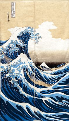 Katsushika Hokusai - A Grande Onda de Kanagawa. Waves Wallpaper, Iphone Background Wallpaper, Japanese Wallpaper Iphone, Ipod Wallpaper, Lock Screen Wallpaper, Aesthetic Pastel Wallpaper, Aesthetic Backgrounds, Aesthetic Wallpapers, Japanese Waves