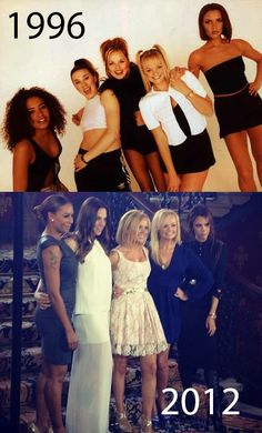 The Spice Girls then and now. 16Years. VivaForever.