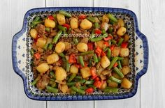 Casserole of green beans, red pepper and minced meat - Homemade by Joke Chicken Recipes Healthy Oven, Chicken Pasta Recipes, Healthy Recipes, Crockpot Recipes, Healthy Foods To Eat, Healthy Eating, Breakfast Casserole Sausage, Best Breakfast Recipes, Eat Breakfast