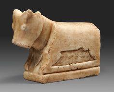 South Arabian alabaster bull. 2nd-1st century B.C.