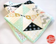 Simple design, could be a good first quilt to sew. | Janome Monday: Sparkly Baby Quilt | Sew4Home