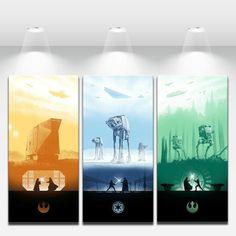 HD Art Print Oil Painting on Canvas Wall Decor Star Wars - NO Framed | eBay