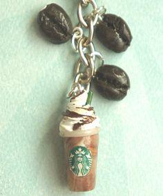 mocha frappuccino keychain