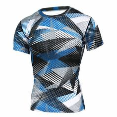 Summer Compression Camouflage Casual Shirt Fitness Men Short Sleeve Casual Tights Bodybuilding Crossfit Flash Camo T-Shirt Tops
