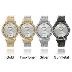 Geneva Platinum Women's Multi-strand Watch | Overstock.com