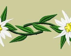 Embroidery pattern Edelweiss от pullivers на Etsy