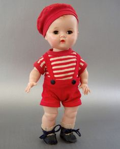 Adorable Working All Original Yes/ No ''Block'' Boy Twin Doll
