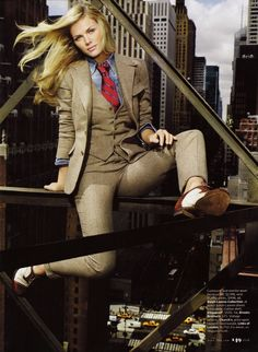 Woman three-piece suit