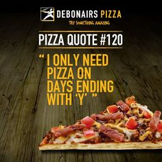 There is only one good way to kick off your weekend, and that's with a pizza from Debonairs Pizza! Pizza Quotes, Food Quotes, Pizza Special, Fun To Be One, Hashtags, Great Recipes, Beef, Pizza Pizza, Conversation