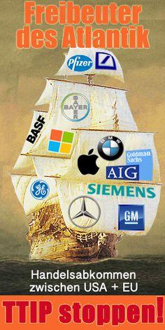 TTIP Freihandelszone stoppen! TTIP Freihandelszone stoppen! Das geplante Abkommen zwischen USA und EU gefährdet grundlegende Arbeitsstandards. TTIP = Transatlantic Trade and Investment Partnership, deutsch: Transatlantisches Handels- und Investitions-Abkommen Ein Aufruf zum Widerstand aus Arbeitnehmer-Perspektive. Gegen den Ausverkauf von Gewerkschaftsrechten! Gegen globales Lohndumping! Gegen eine weitere Abwärtsspirale bei Arbeitnehmer-Rechten! Unterzeichnen Sie hier: