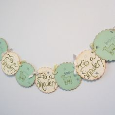 Mint Green Baby Shower Banner  Vintage Lamb Theme by JessMadeThis, $14.00
