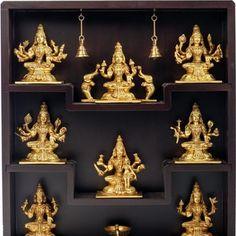 Lotus Image, Pooja Room Door Design, Puja Room, Brass Statues, Indian Home Decor, Wooden Case, Room Doors, Living Room Decor, Sculptures