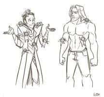 Loki vs Thor by WendyDoodles FANGIRLS!!! Lokie all the way
