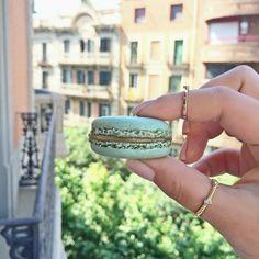 #macarons #laduree #yummy #mint #pastel #rings