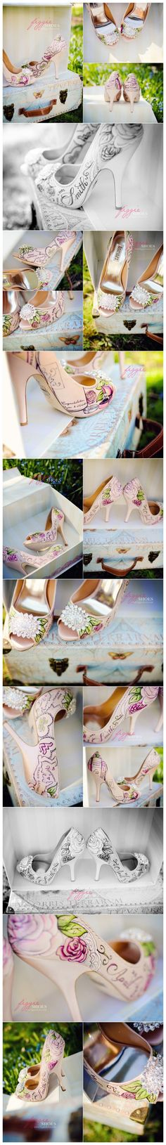 Wow.  I wish more brides wore shoes like this. Love this idea!