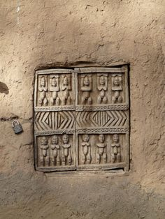 Dogon Granary door by Stephen Kamin