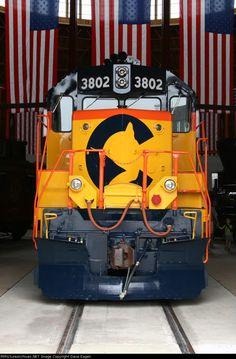 Chessie System (B&O) GP38#3802 Trains Magazine All-American Diesel 1982