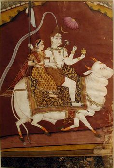 Shiva and Parvati on Nandi. Creation Date: ca. 1780. Edwin Binney 3rd Collection, The San Diego Museum of Art