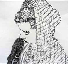 Zentangle Self Portrait