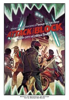 Attack the Block, inner city vs. outer space, sci fi, aliens, monster movie, class warfare, police, movies, humor, badass gorilla-looking wolf mother fucker things,