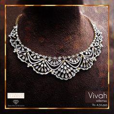 Real Diamond Necklace, Diamond Choker, Diamond Bracelets, Diamond Pendant, Diamond Jewelry, Gold Necklace, Pendant Necklace, Jewelry Art, Bridal Jewelry