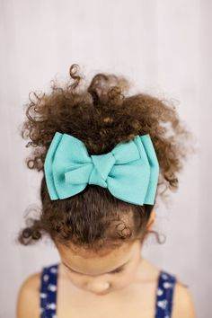 Oversized Mint Hair Bow for Little Girls Hair Accessories Mint Green Sueded Large Bow Hair Clip