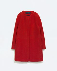 Red wool coat from Zara