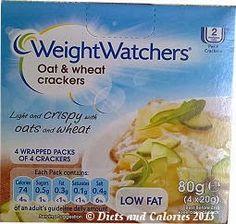 Weight Watchers Oat & Wheat Crackers Box