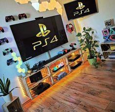 Bedroom Setup, Room Ideas Bedroom, Bedroom Decor, Nerd Room, Gamer Room, Small Game Rooms, Gaming Room Setup, Gaming Rooms, Cool Kids Bedrooms