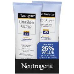 Price:$11.99 (Saved:20%) Neutrogena Ultra Sheer SPF 45 Twin Pack 3.0 Fl Oz #beauty, #skincare , #bestsell