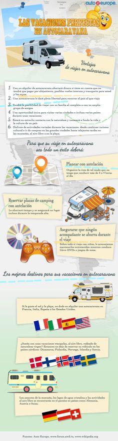 Infografía: Las vacaciones perfectas en autocaravana - Consulte nuestras infografías aquí: http://www.autoeurope.es/go/infografias/