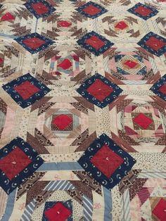 Antique Vintage Handmade Large 7'x7' Farmhouse Rescue Quilt   Antiques, Linens & Textiles (Pre-1930), Quilts   eBay!