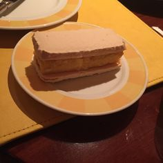 Passion fruit macaron ice cream sandwich