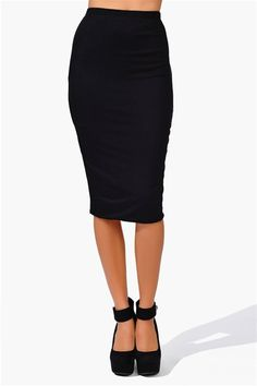 Shape Up Pencil Skirt - Black A great basic skirt that has a pencil fit. They have a great fit with a soft touch! Has an elastic band around waits for comfort and fit. Knit Pencil Skirt, Pencil Skirt Black, Pencil Skirts, Work Fashion, Fashion Outfits, Womens Fashion, Skirt Fashion, Skirt Outfits, Cute Outfits