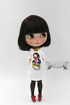 Girlish - Snow White Punk Set for Blythe doll - dress / outfit