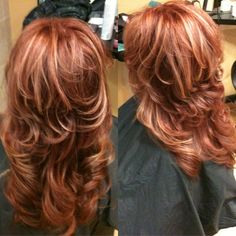 Copper Red Hair With Blonde Highlights Beauty Gallery DVAgoda.